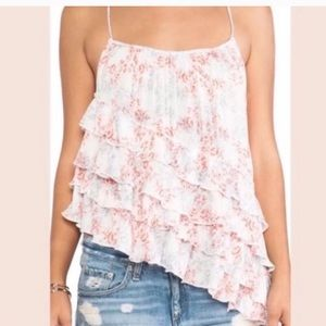 Free People | Asymmetrical Floral Tank Extra Small